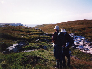 Guy and Vivien at Cape Cornwall