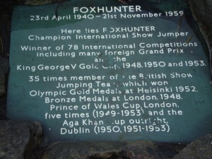 Foxhunter Grave on Blorenge Mountain South Wales